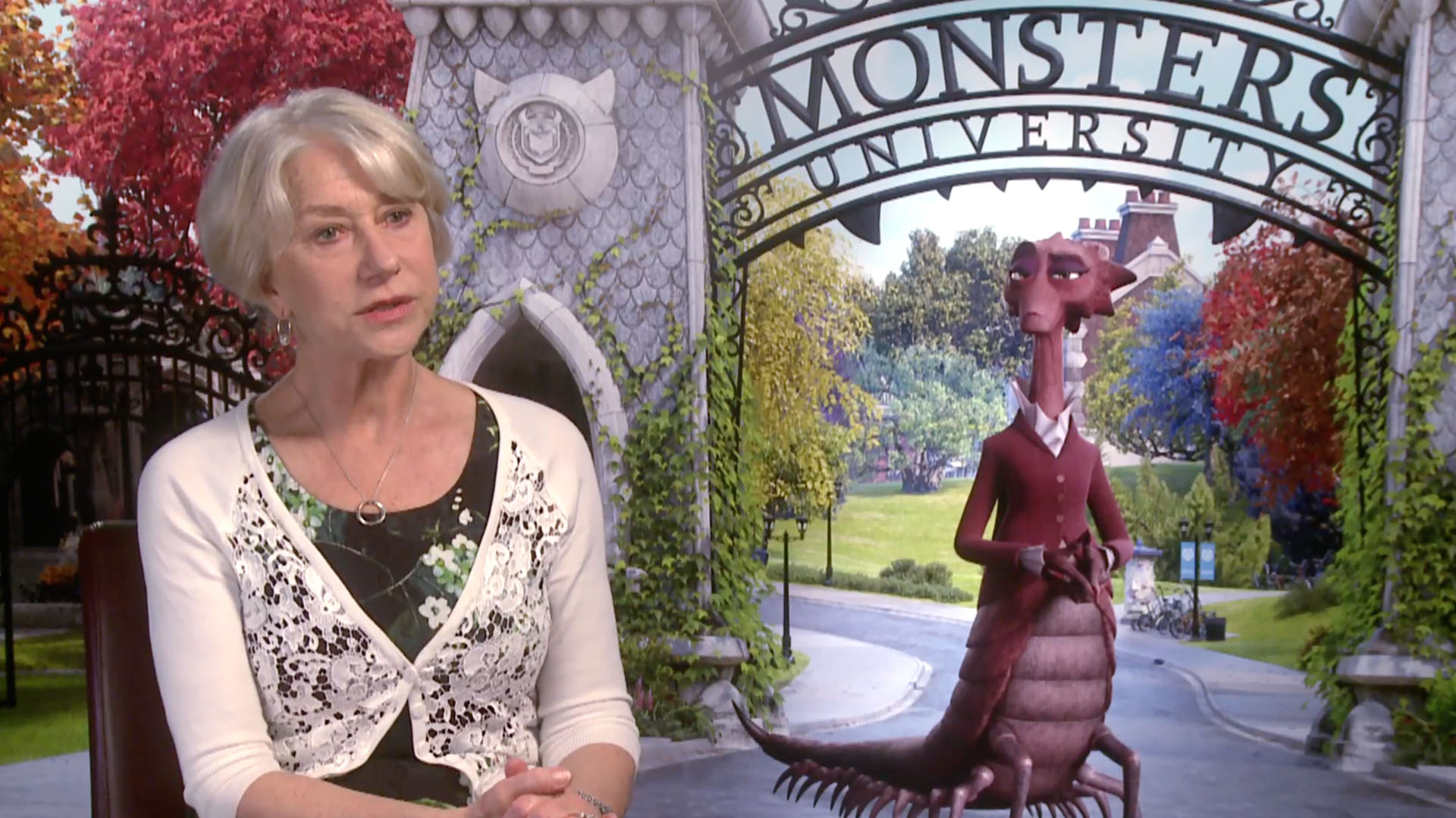 Helen Mirren talking about Monsters University