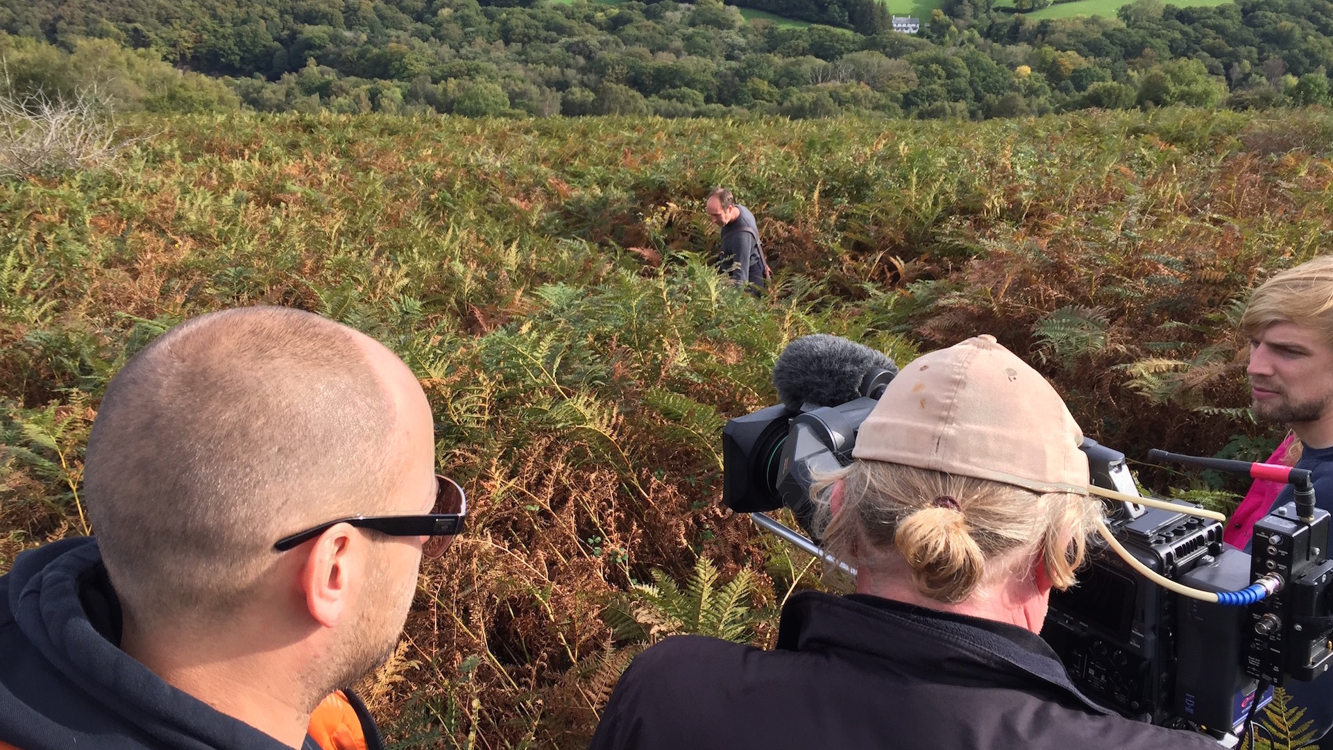 Will Johnson from Wired sets up a shot for 'The Good Dinosaur - Access All Areas' Filmed in Dartmoor