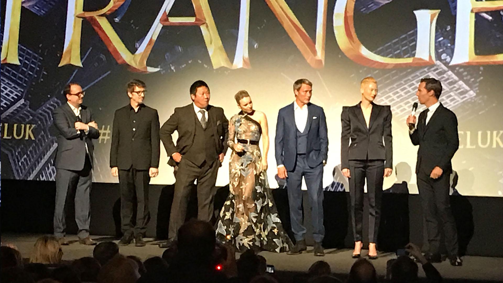 Scott Derrikson, Benedict Wong, Rachel McAdams, Mads Mikkelson, Tilda Swinton and Benedict Cumberbatch at the UK Premiere of Doctor Strange