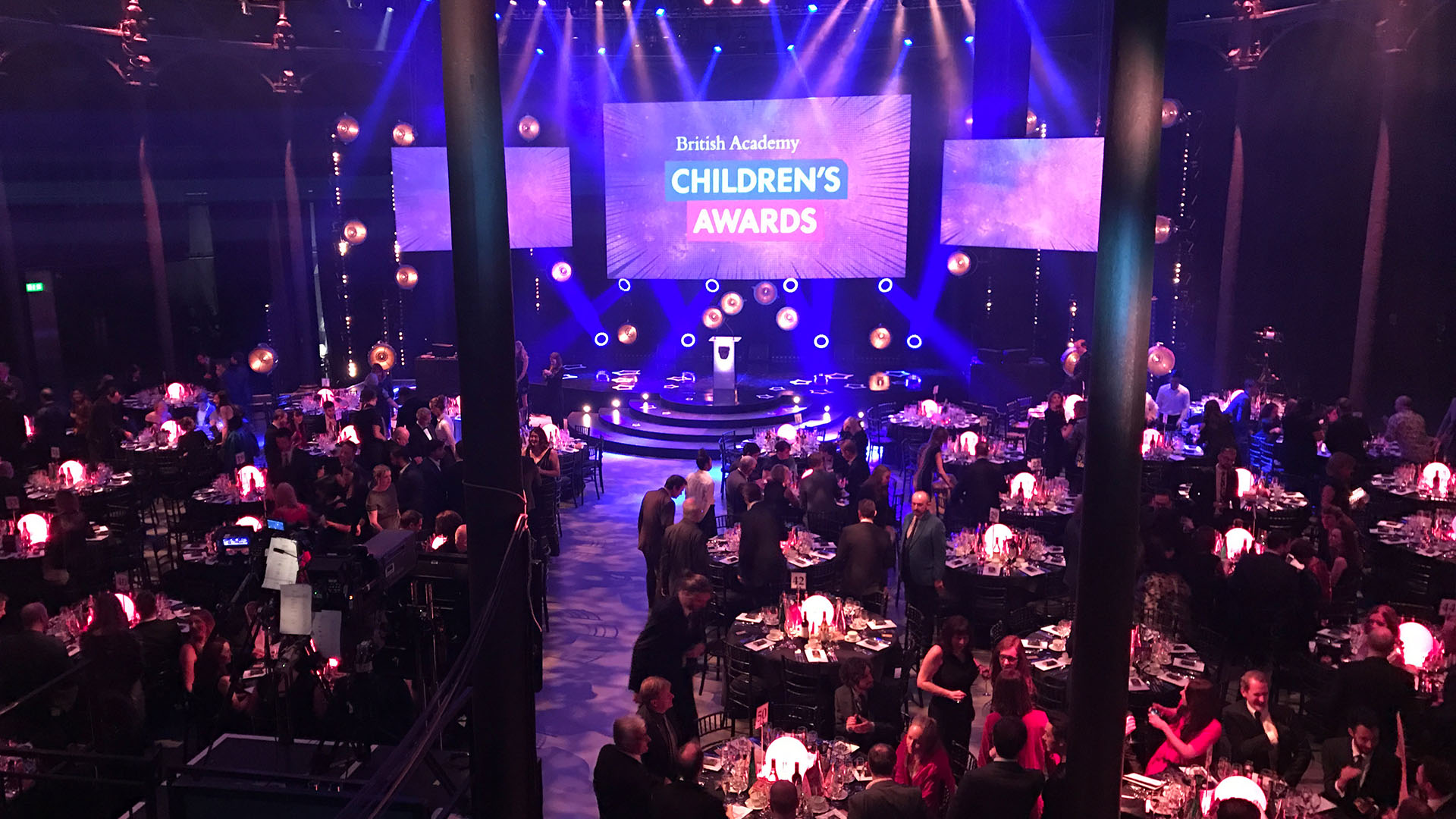 Main Hall at the Roundhouse for the Bafta Children's Awards 2016