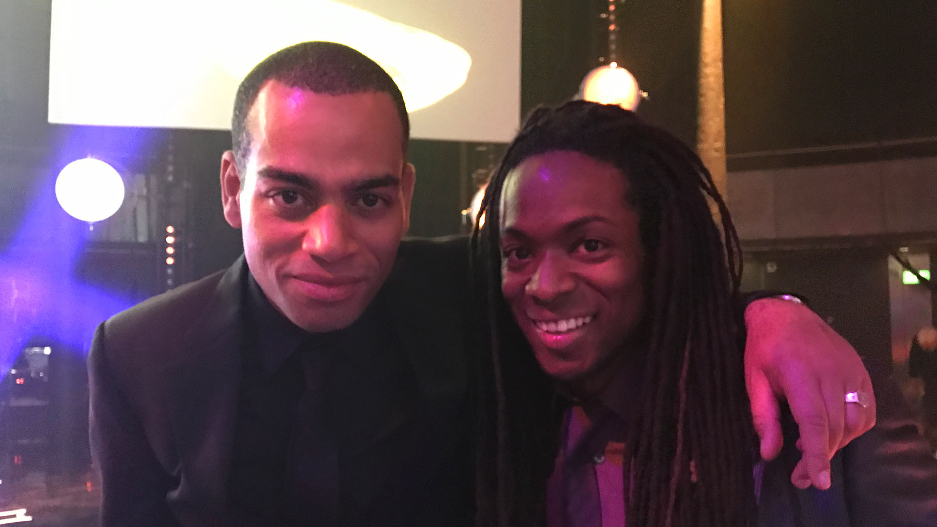 Doc Brown and Nigel Clarke at the after party of the Bafta Children's Awards 2016