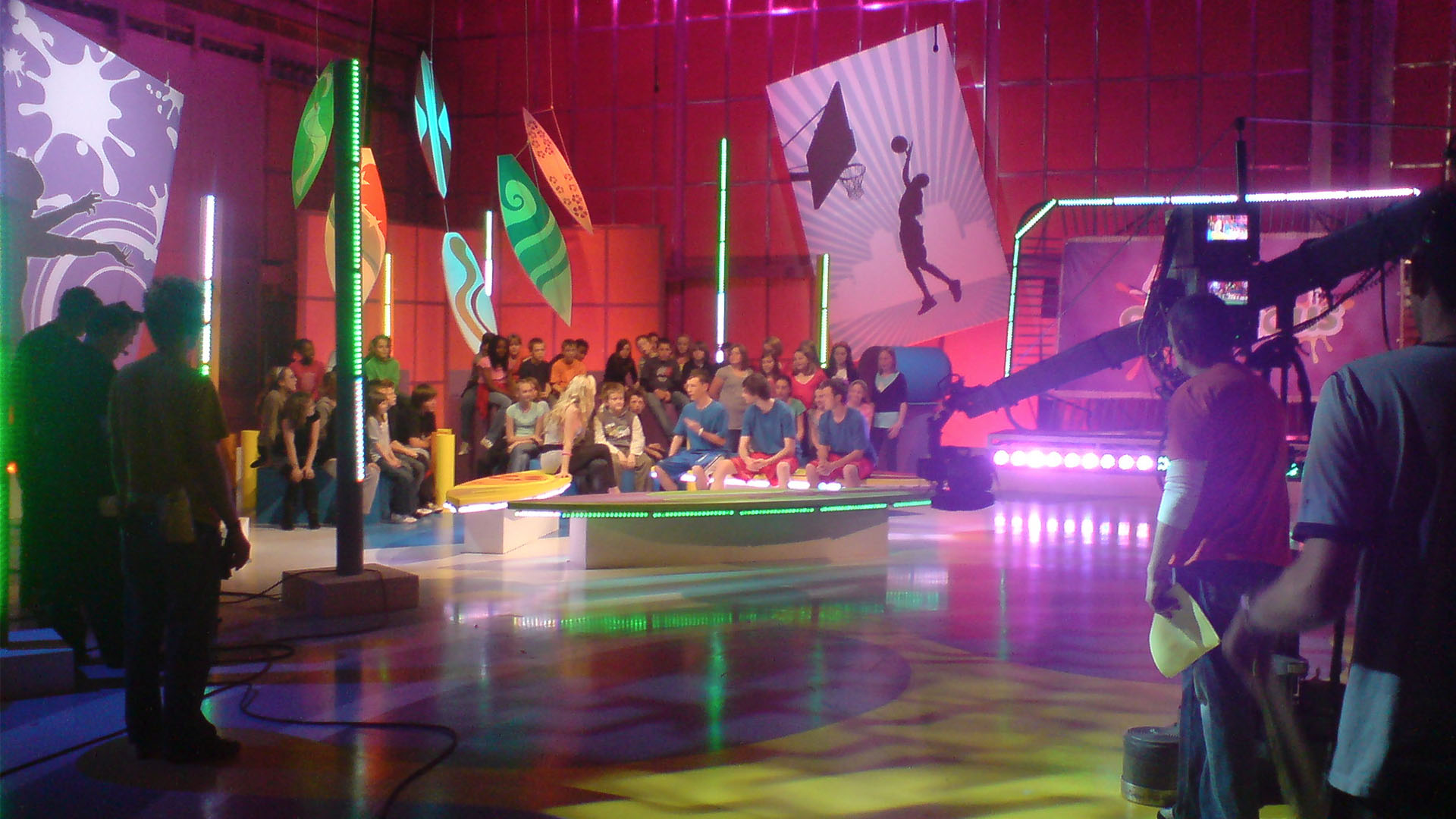 Zoe Salmon and Freestyle footballers on Citv's Skillicious