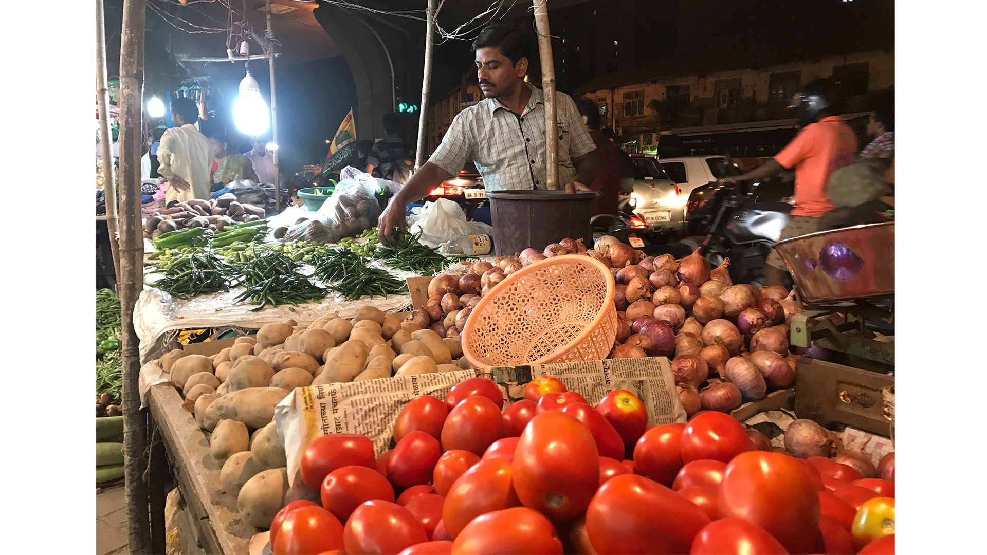 Vegetable Stall on a day off in Mumbai