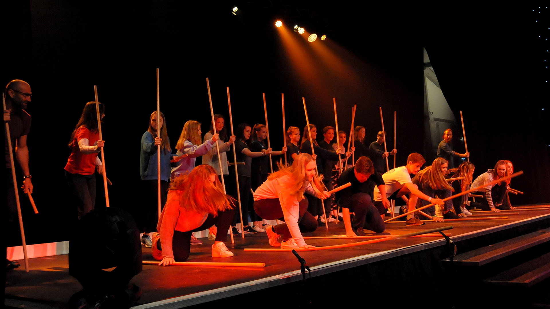 STOMP Workshop at Rugby School - Poles.