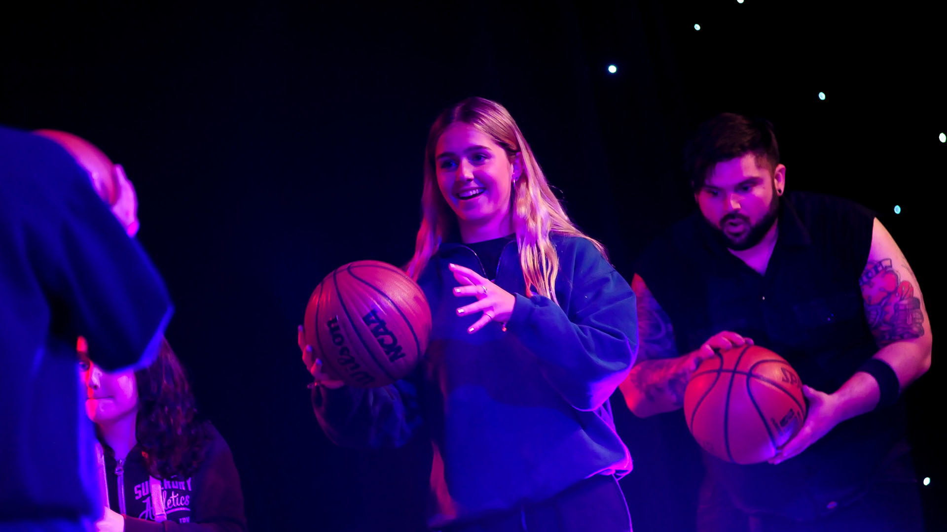 STOMP Workshop at Rugby School - Basketballs Performance.