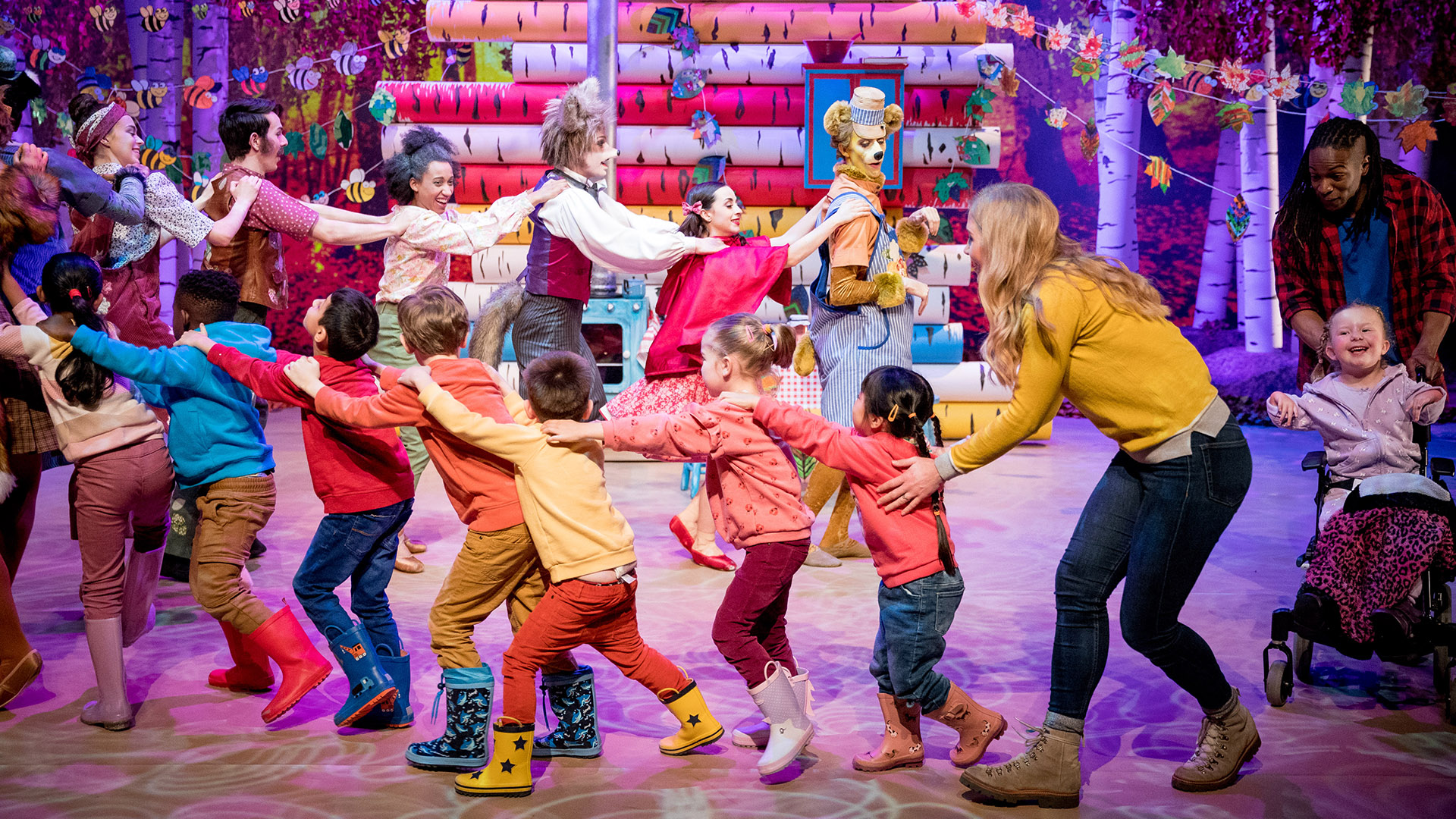 CBeebies Ballet - Little Red Riding - Finale with full cast doing the conga.